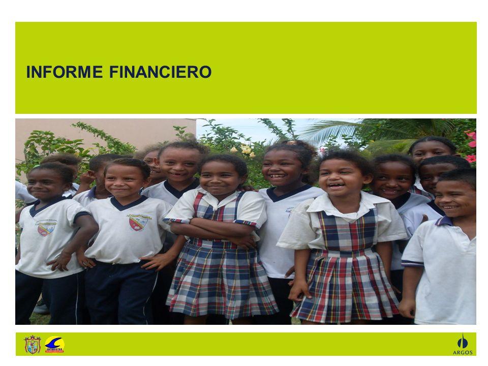 En el año 2.009 GRACIAS a la alianza entre la Alcaldía de Santiago de Tolú y ARGOS se logró beneficiar a 1.943 entre estudiantes, docentes y directores de 4 Instituciones y Centros Educativos del municipio de Santiago de Tolú.DESCRIPCIÓNVALOR Aporte Alcaldía De Santiago De Tolú Convenio T008-014-2009 250.000.000 Aporte Fundación Argos Convenio T008-014-2009 150.000.000 Valor Convenio T008-014-2009 400.000.000 Remanente Convenio T008-08-2008 Alianza Alcaldía De Santiago De Tolú - Fundación Argos.