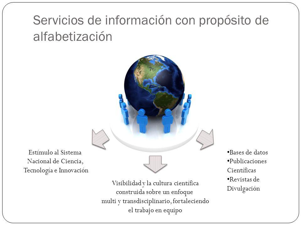 Consideraciones finales Un servicio de información organizacional que considere las ventajas de estar alfabetizado científica y tecnológicamente propicia espacios para la reflexión multi y transdisciplinaria dentro de las organizaciones.