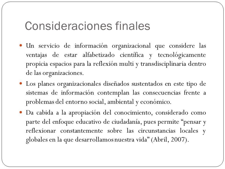 Referencias Bibliográficas Abril, D.(2007) Escuelas y educación para la ciudadanía global.