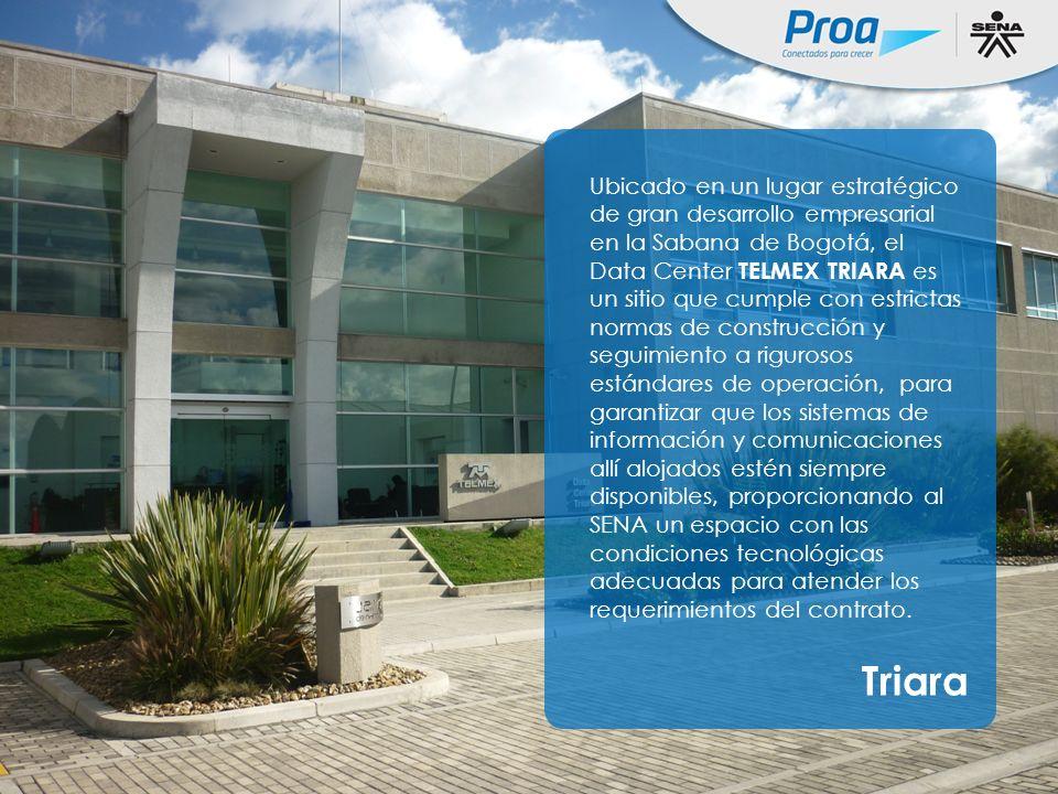 Triara Único Data Center en la región diseñado con especificaciones TIA/EIA 942 - Tier IV, ofrece una disponibilidad de servicios de sitio de 99,995% (Infraestructura física, Clima y Potencia).