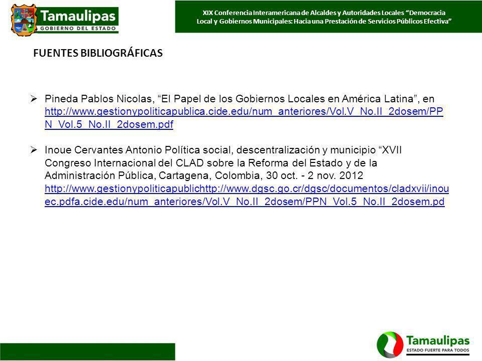 Pineda Pablos Nicolas, El Papel de los Gobiernos Locales en América Latina, en http://www.gestionypoliticapublica.cide.edu/num_anteriores/Vol.V_No.II_