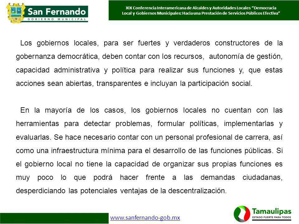 Pineda Pablos Nicolas, El Papel de los Gobiernos Locales en América Latina, en http://www.gestionypoliticapublica.cide.edu/num_anteriores/Vol.V_No.II_2dosem/PP N_Vol.5_No.II_2dosem.pdf http://www.gestionypoliticapublica.cide.edu/num_anteriores/Vol.V_No.II_2dosem/PP N_Vol.5_No.II_2dosem.pdf Inoue Cervantes Antonio Política social, descentralización y municipio XVII Congreso Internacional del CLAD sobre la Reforma del Estado y de la Administración Pública, Cartagena, Colombia, 30 oct.