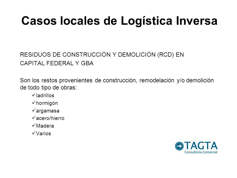RESIDUOS DE CONSTRUCCIÓN Y DEMOLICIÓN (RCD) EN CAPITAL FEDERAL Y GBA Son los restos provenientes de construcción, remodelación y/o demolición de todo
