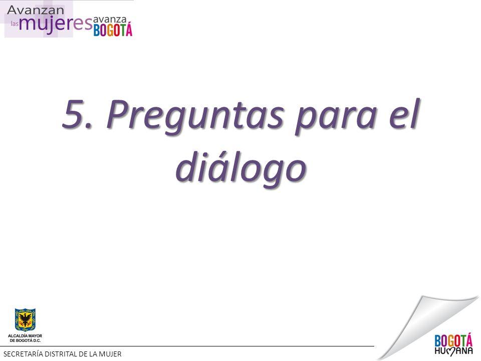 5. Preguntas para el diálogo SECRETARÍA DISTRITAL DE LA MUJER