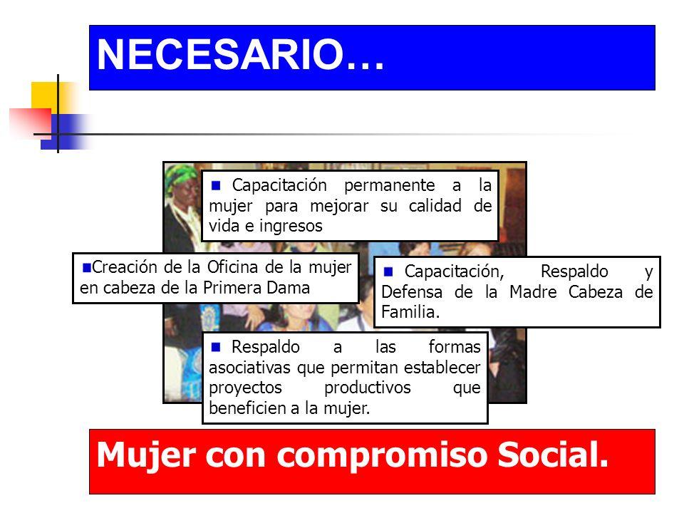 NECESARIO… Igualdad Social.Distribución adecuada y equitativa de los recursos.