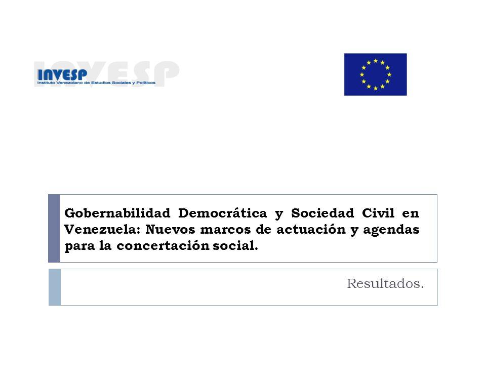 Gobernabilidad Democrática y Sociedad Civil en Venezuela: Nuevos marcos de actuación y agendas para la concertación social.
