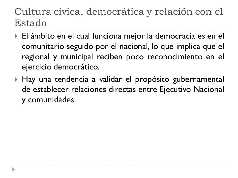 Participación ciudadana y rendición de cuentas Las OSC reconocen que sus 3 derechos fundamentales en una democracia son: libertad de expresión, participación y libertad de asociación en ese orden de importancia.