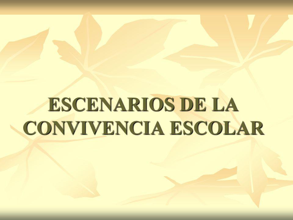 ESCENARIOS DE LA CONVIVENCIA ESCOLAR