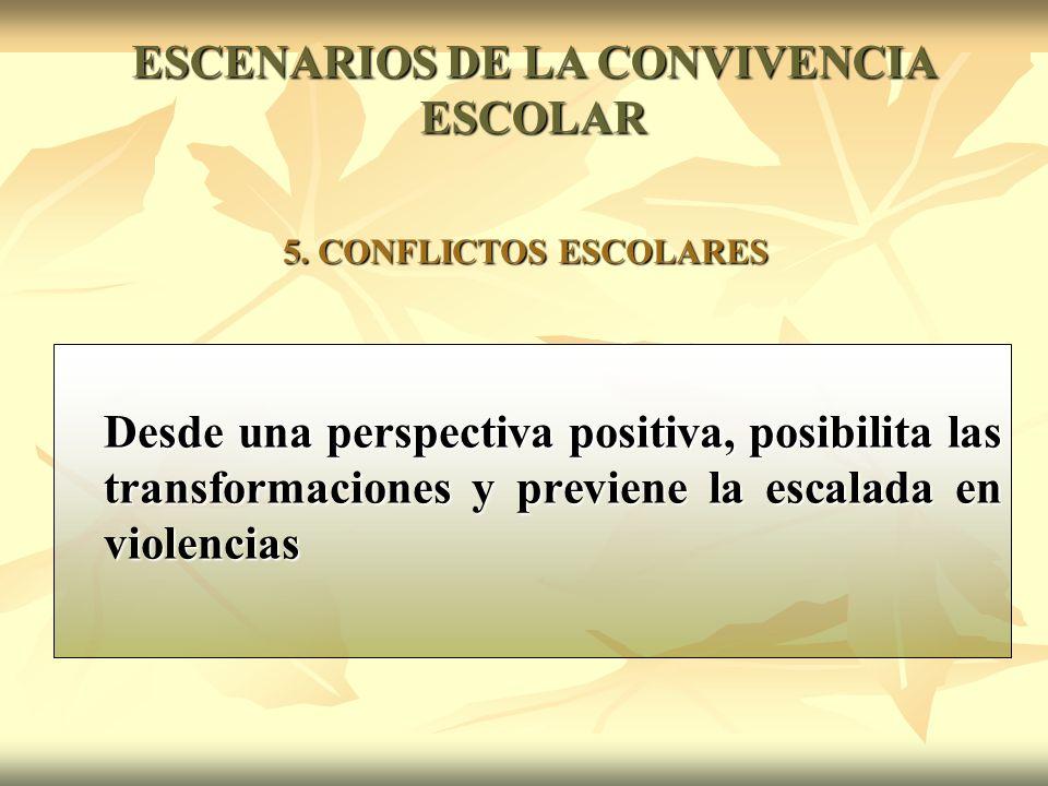 Desde una perspectiva positiva, posibilita las transformaciones y previene la escalada en violencias 5.