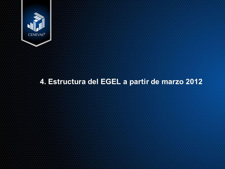 4. Estructura del EGEL a partir de marzo 2012
