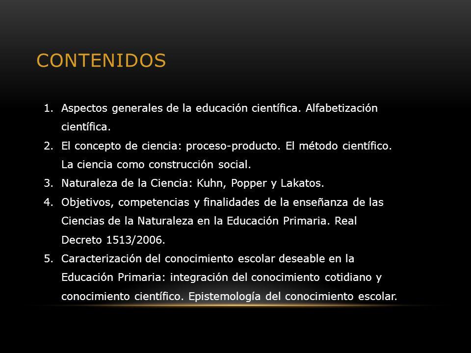1.1.- ASPECTOS GENERALES DE LA EDUCACIÓN CIENTÍFICA.