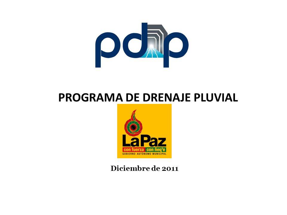 Diciembre de 2011 PROGRAMA DE DRENAJE PLUVIAL