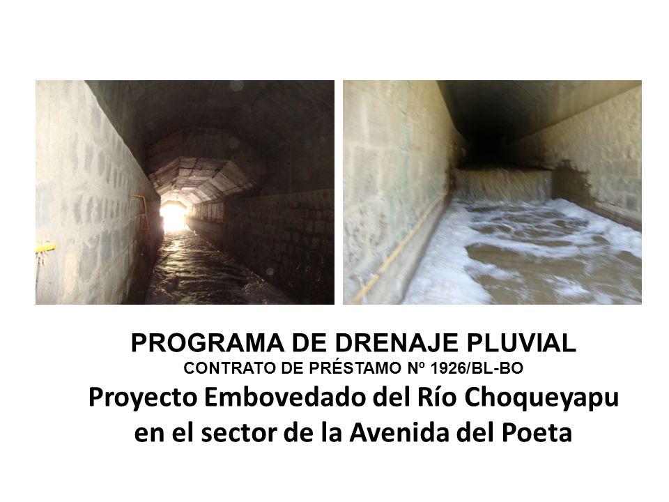 CONTRATO DE PRÉSTAMO Nº 1926/BL-BO Proyecto Embovedado del Río Choqueyapu en el sector de la Avenida del Poeta