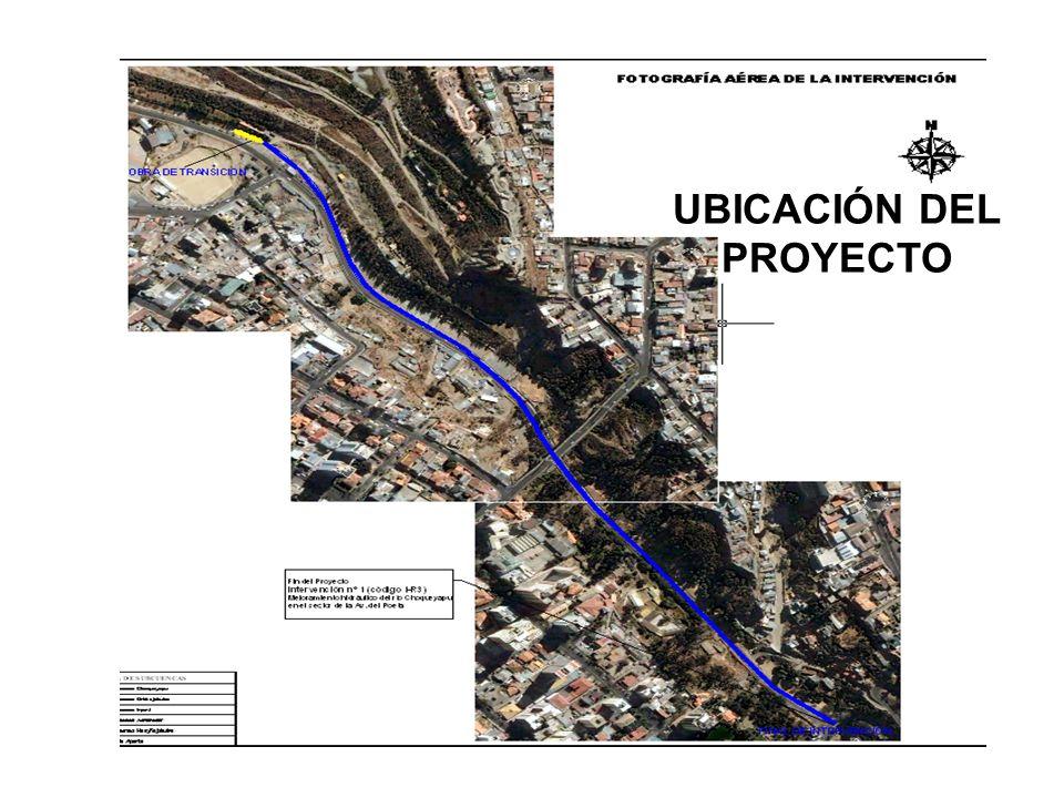 ASPECTOS TECNICOS PARTICULARES DE LA OBRA LA OBRA DE TRANSICION Debe conducir el flujo que sale del embovedado doble de construido en el sector Santa Bárbara (ambos embovedados de la misma sección transversal y por tanto de la misma capacidad hidráulica) hasta el embovedado existente a lo largo de la Av.