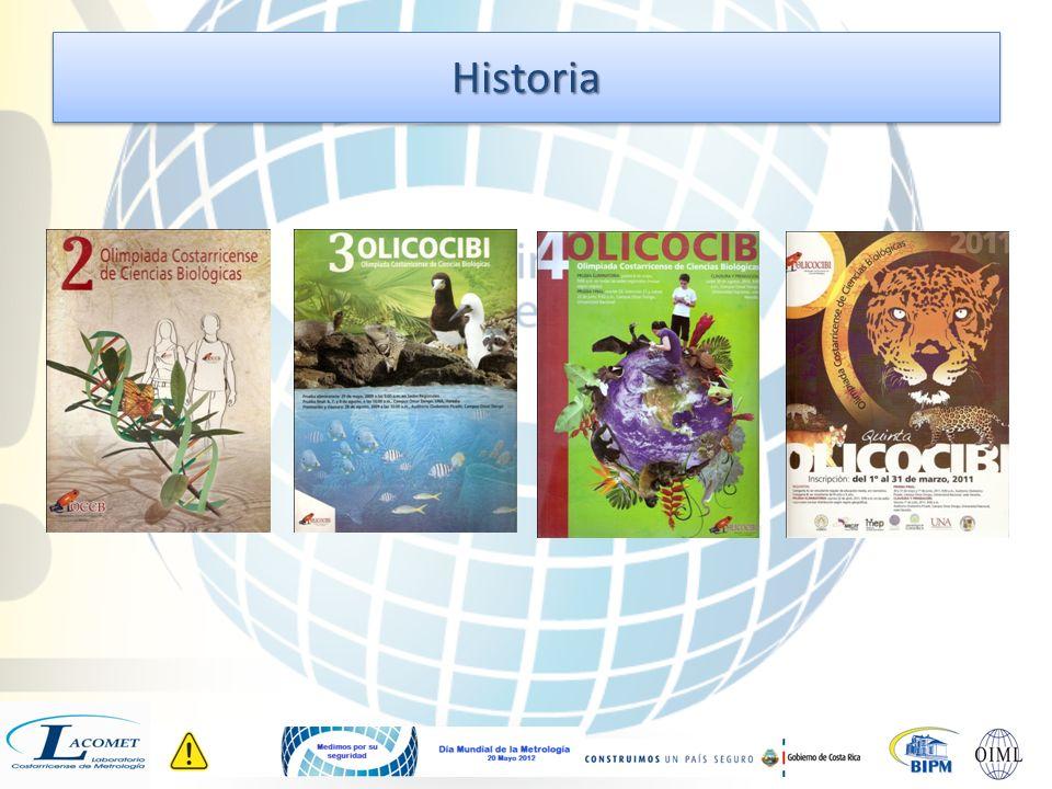 2007 La Olimpiada Costarricense de Ciencias Biológicas (OLICOCIBI) se realiza por primera vez con el nombre de I Olimpiada Costarricense de Biología 2008 II OLICOCIBI: 547 estudiantes de secundaria con participación de 132 colegios.