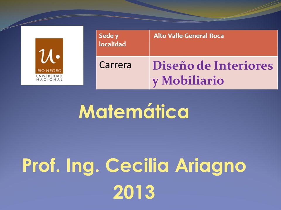 Matemática Prof. Ing.