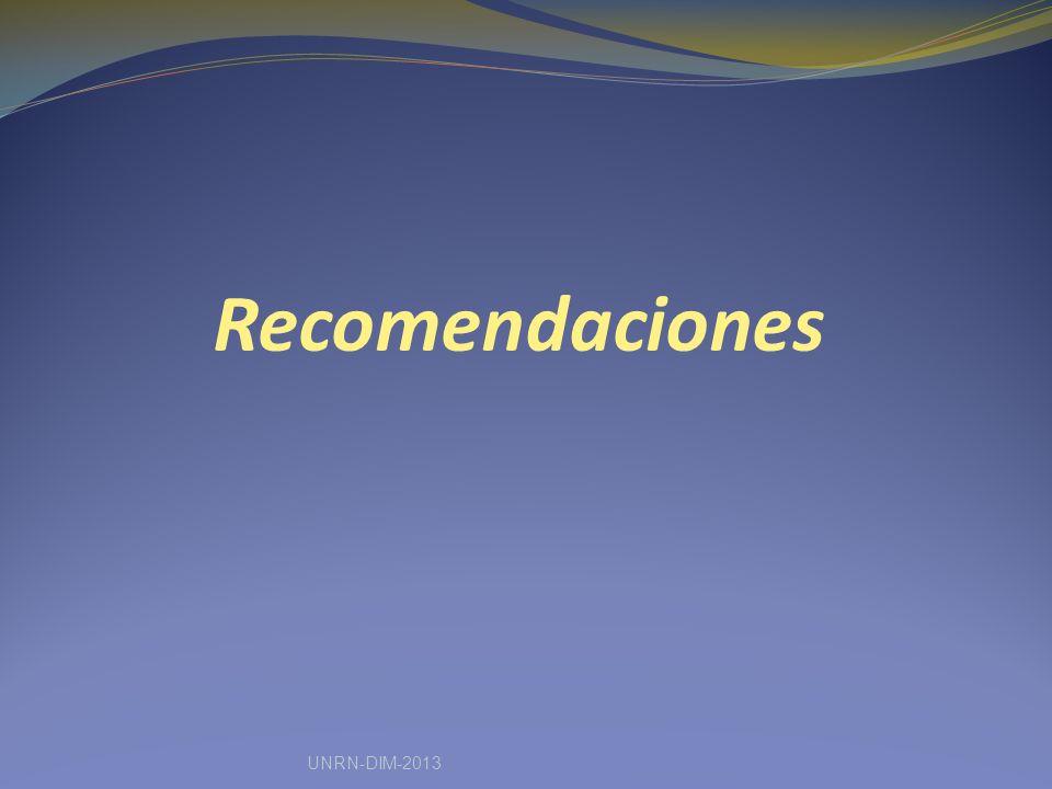 Recomendaciones UNRN-DIM-2013