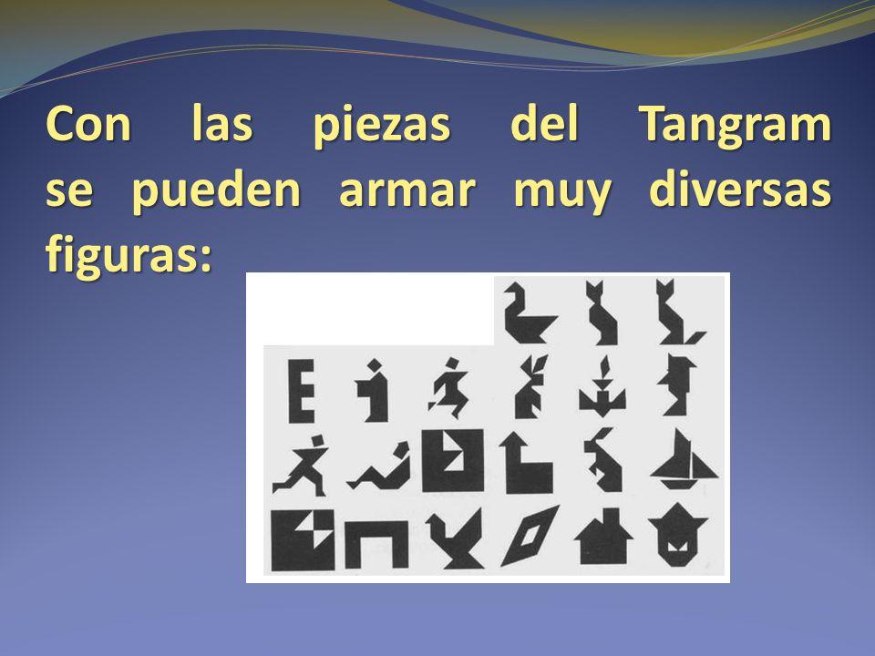 Con las piezas del Tangram se pueden armar muy diversas figuras: