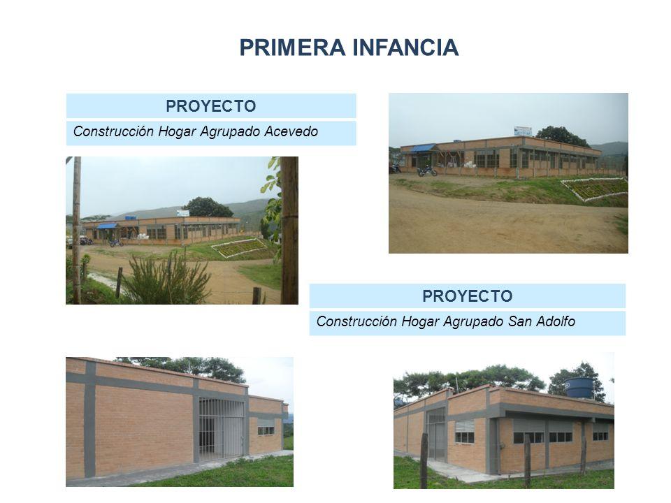 PRIMERA INFANCIA PROYECTO Construcción Hogar Agrupado Acevedo PROYECTO Construcción Hogar Agrupado San Adolfo