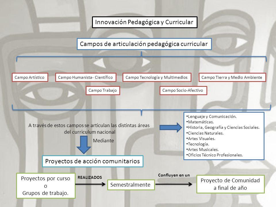 Innovación Pedagógica y Curricular Campos de articulación pedagógica curricular Campo ArtísticoCampo Humanista- CientíficoCampo Tecnología y Multimedi