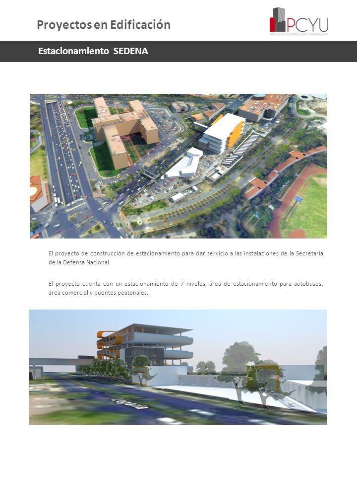 El proyecto de construcción de estacionamiento para dar servicio a las instalaciones de la Secretaria de la Defensa Nacional. El proyecto cuenta con u