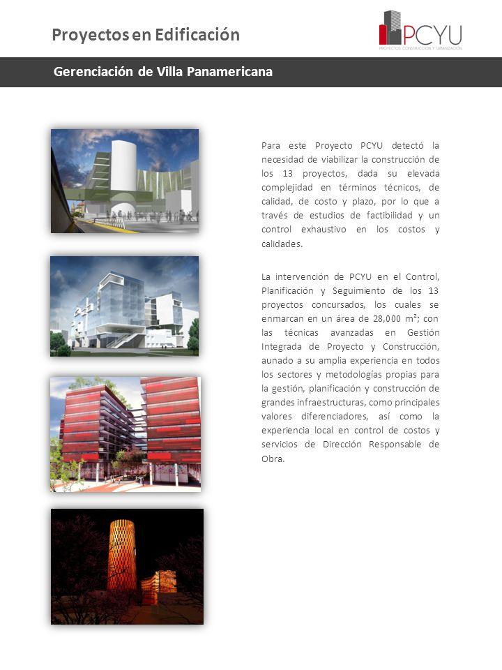 Para este Proyecto PCYU detectó la necesidad de viabilizar la construcción de los 13 proyectos, dada su elevada complejidad en términos técnicos, de c