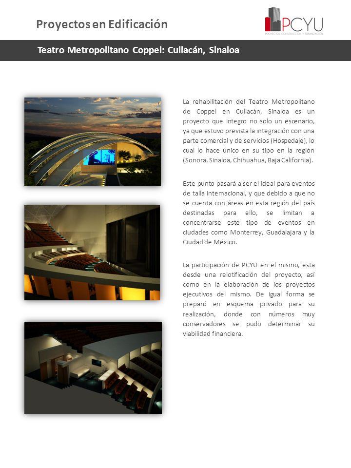 La rehabilitación del Teatro Metropolitano de Coppel en Culiacán, Sinaloa es un proyecto que integro no solo un escenario, ya que estuvo prevista la i