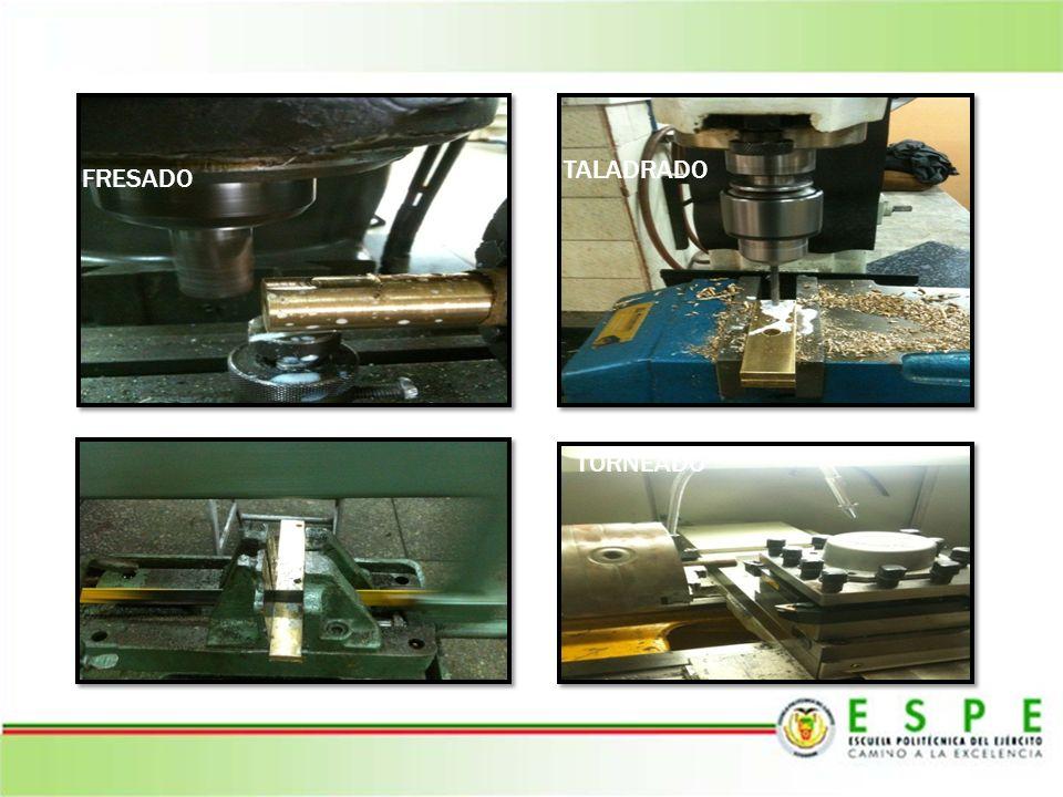 Entre los procesos de manufactura que se pueden resaltar podemos encontrar: FRESADO TALADRADO DESVASTE TORNEADO