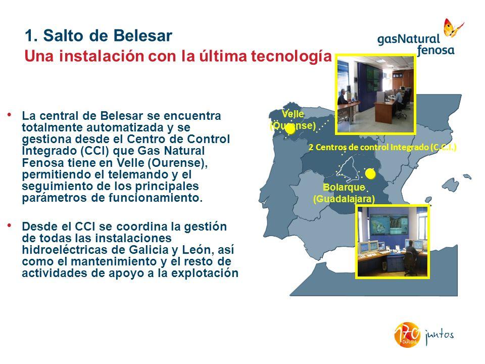 La central de Belesar se encuentra totalmente automatizada y se gestiona desde el Centro de Control Integrado (CCI) que Gas Natural Fenosa tiene en Ve