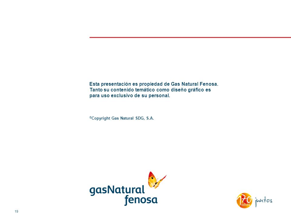 Esta presentación es propiedad de Gas Natural Fenosa. Tanto su contenido temático como diseño gráfico es para uso exclusivo de su personal. © Copyrigh