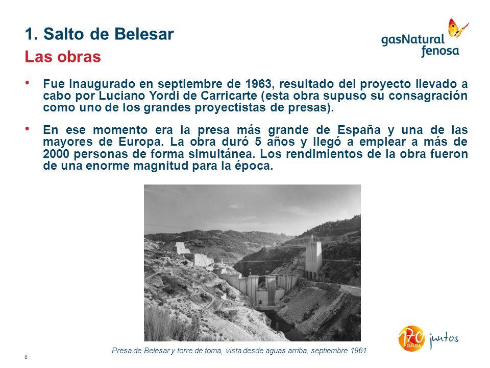 Las obras Fue inaugurado en septiembre de 1963, resultado del proyecto llevado a cabo por Luciano Yordi de Carricarte (esta obra supuso su consagració