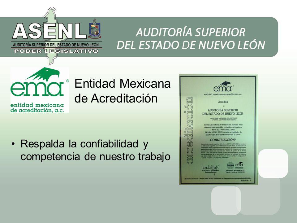 Entidad Mexicana de Acreditación Respalda la confiabilidad y competencia de nuestro trabajo