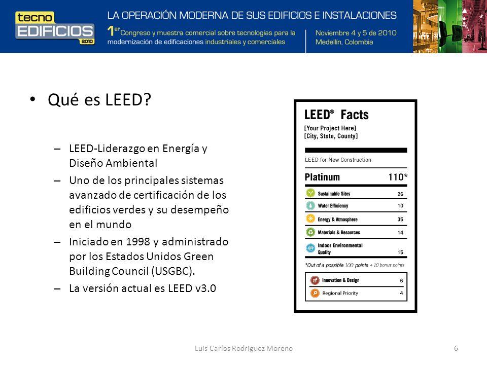 Luis Carlos Rodriguez Moreno6 Qué es LEED.