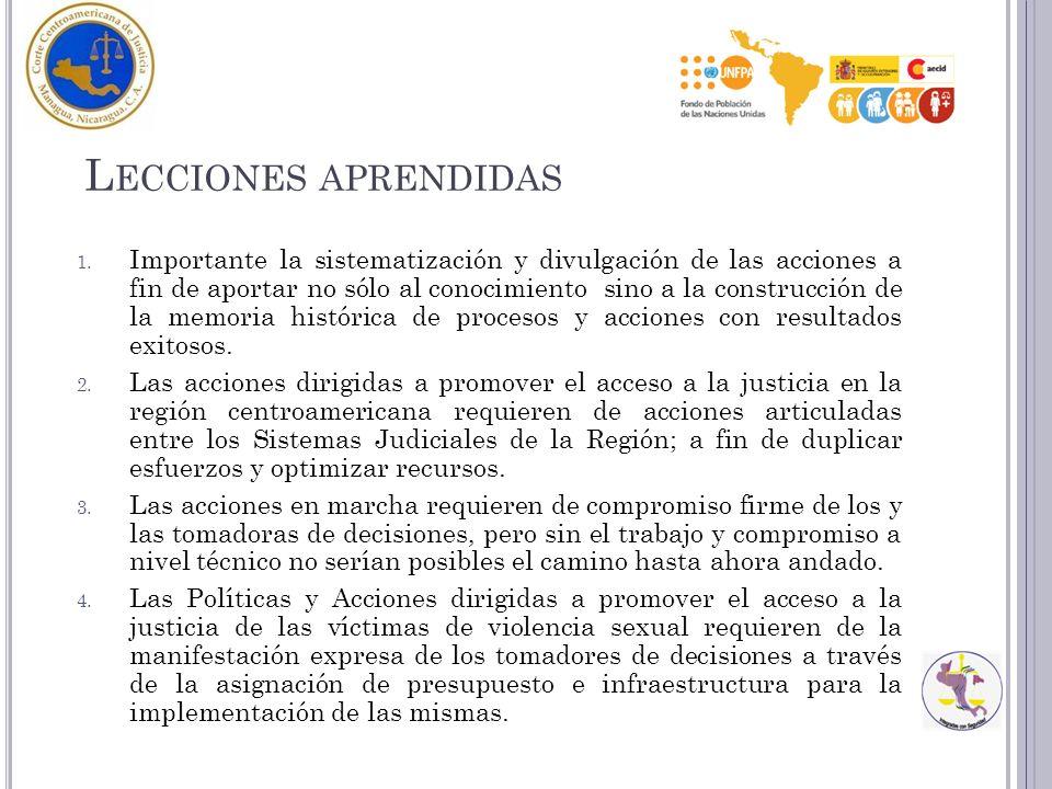L ECCIONES APRENDIDAS 1.