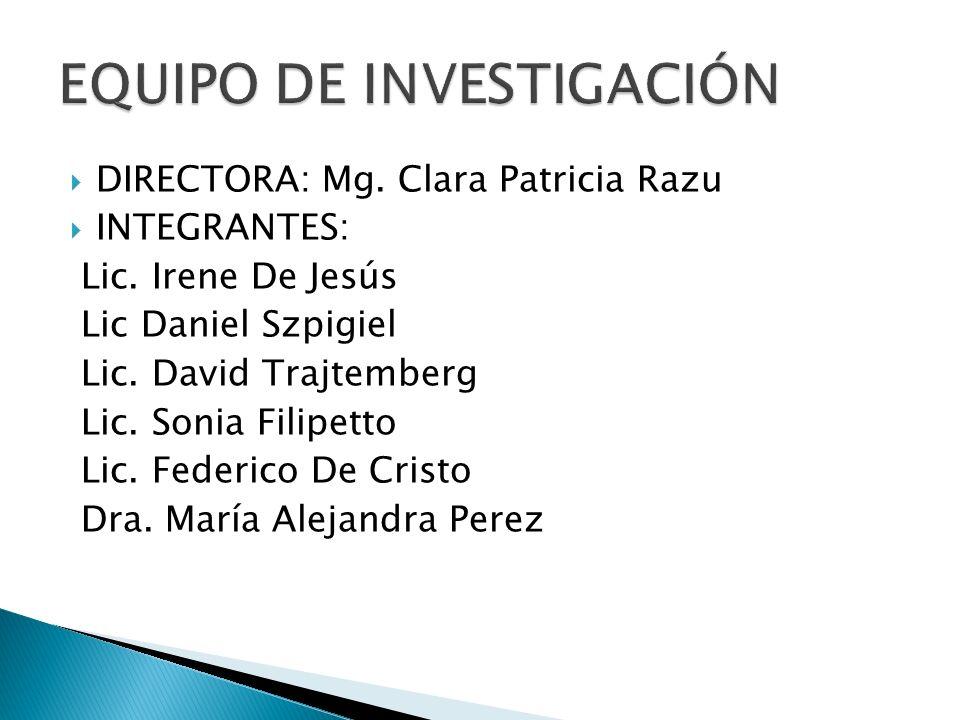 DIRECTORA: Mg.Clara Patricia Razu INTEGRANTES: Lic.