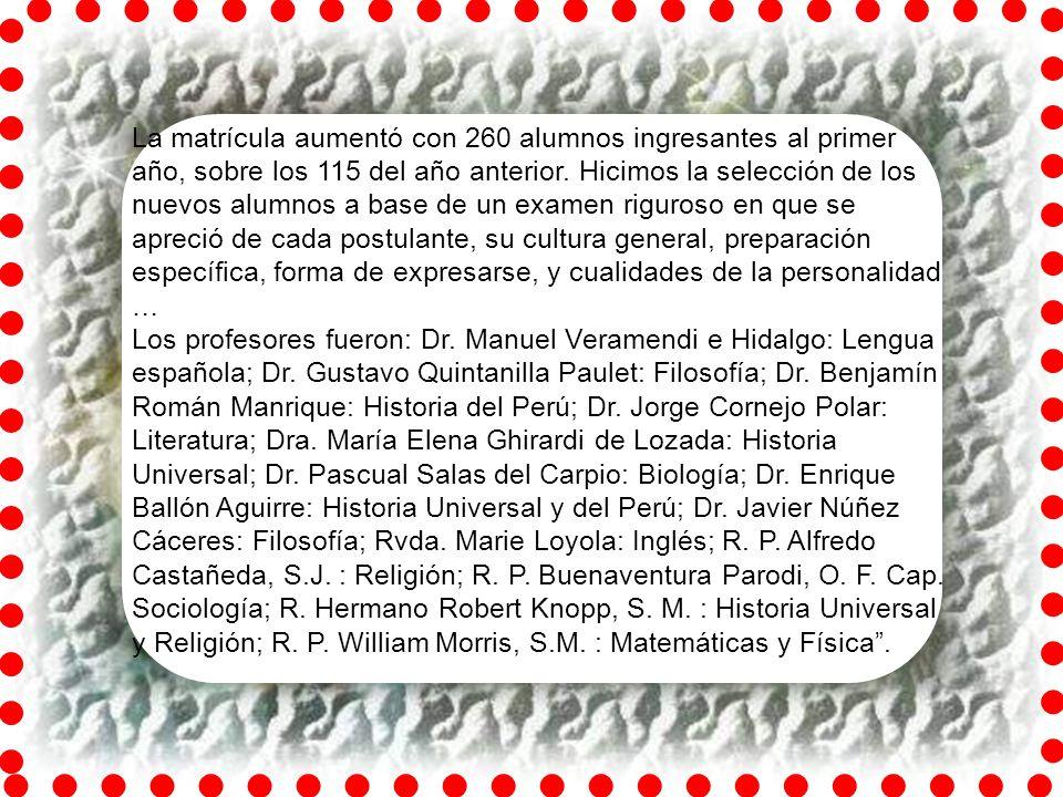 Siguiendo el modelo europeo, en su primera página dice: La Universidad de Santa María, dirigida por la Sociedad de María (Marianistas), tiene carácter