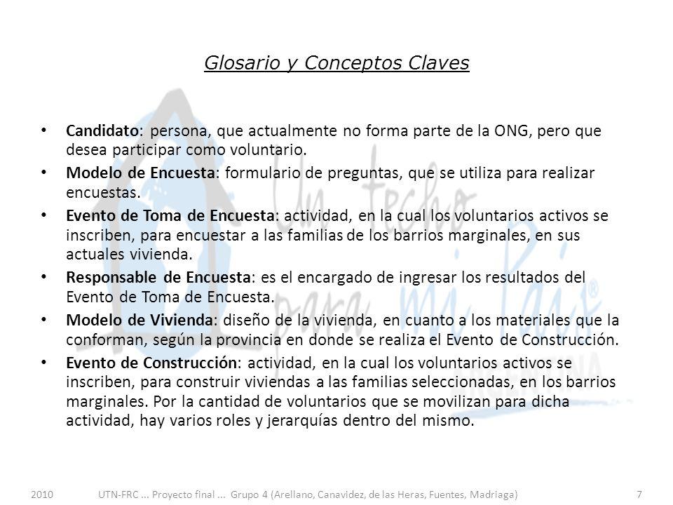 2010UTN-FRC... Proyecto final... Grupo 4 (Arellano, Canavidez, de las Heras, Fuentes, Madriaga)7 Glosario y Conceptos Claves Candidato: persona, que a
