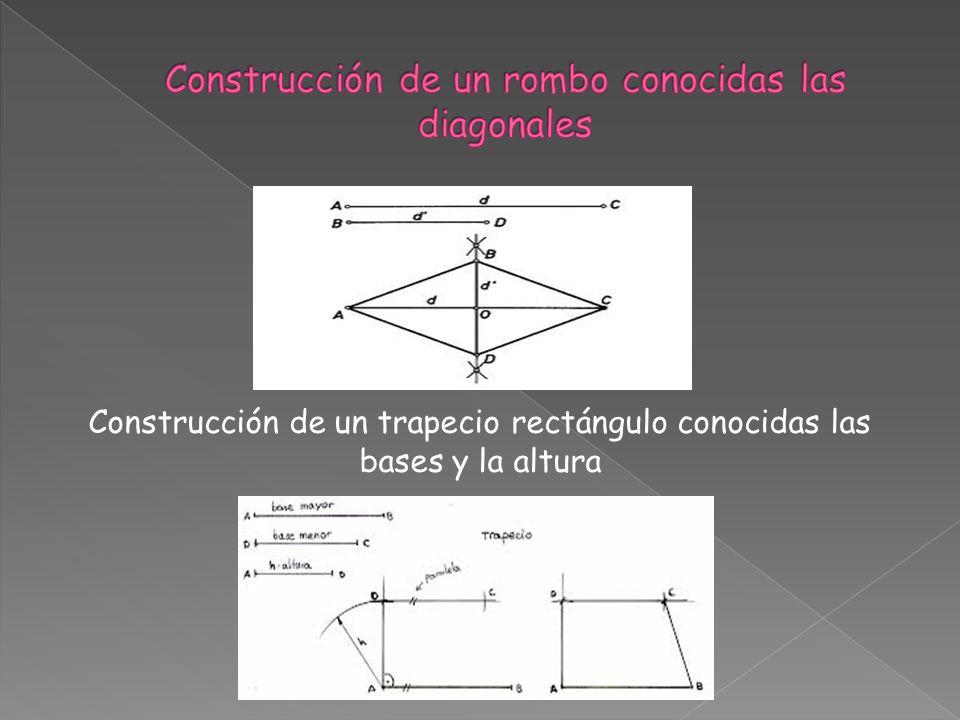 Construcción de un trapecio rectángulo conocidas las bases y la altura
