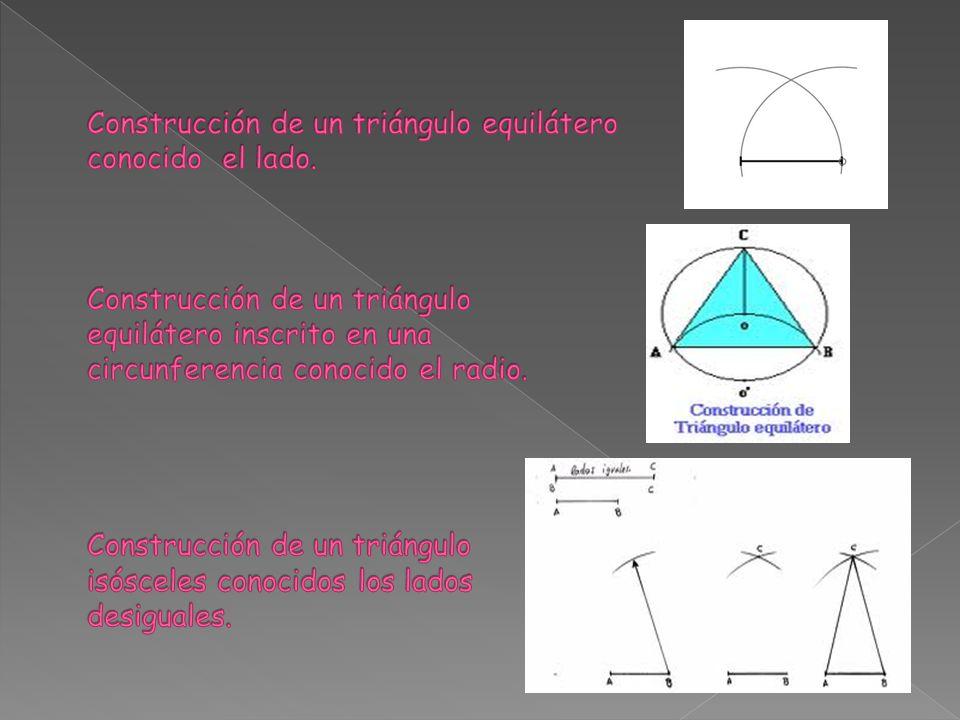 Construcción de un triángulo escaleno dados dos lados y el ángulo comprendido.