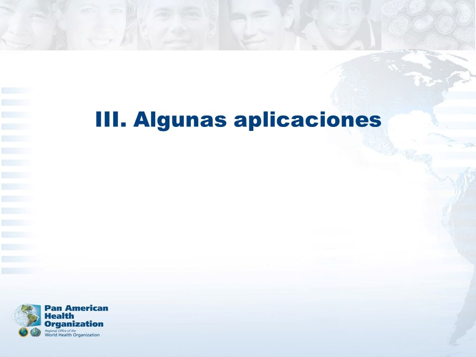 III. Algunas aplicaciones