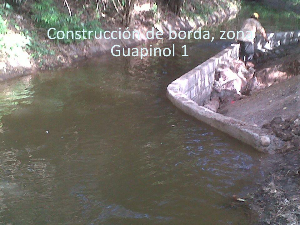 Construcción de borda, zona Guapinol 1