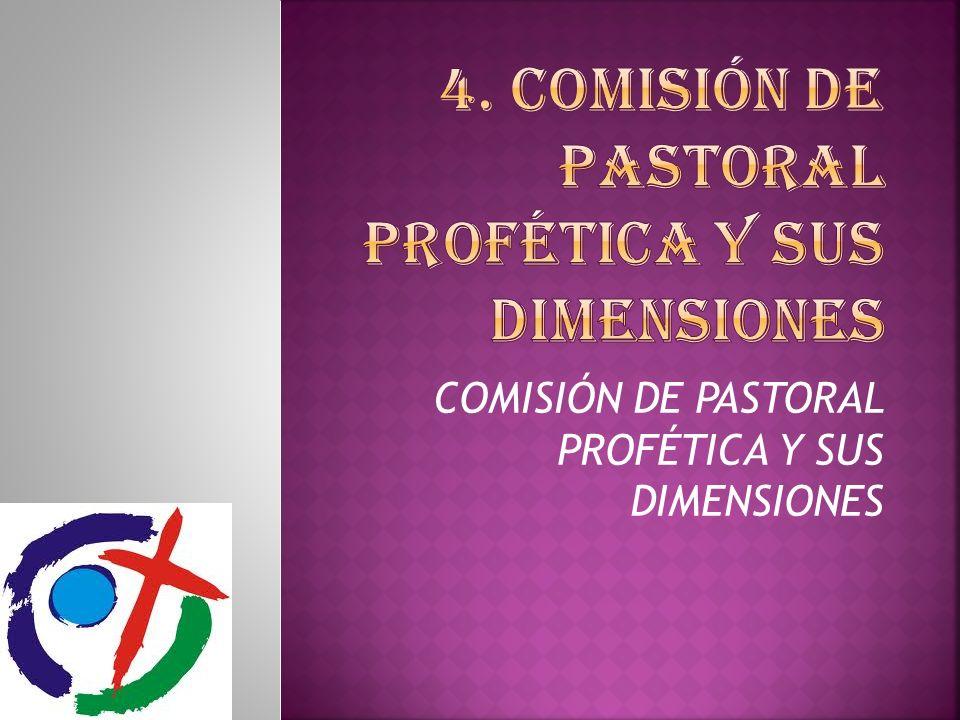 COMISIÓN DE PASTORAL PROFÉTICA Y SUS DIMENSIONES