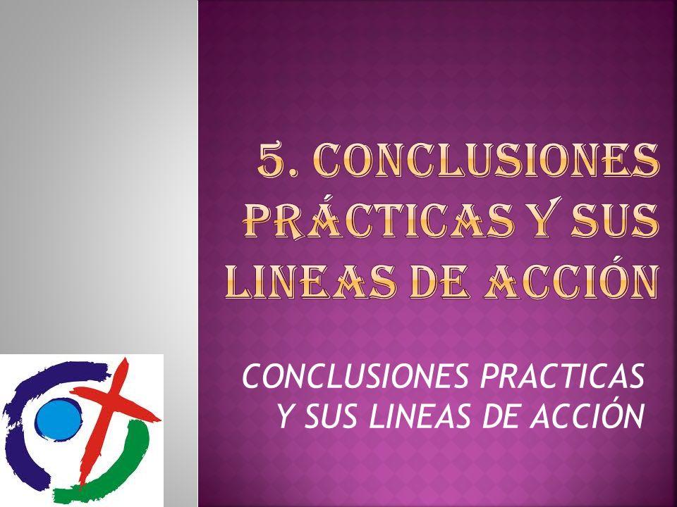 CONCLUSIONES PRACTICAS Y SUS LINEAS DE ACCIÓN
