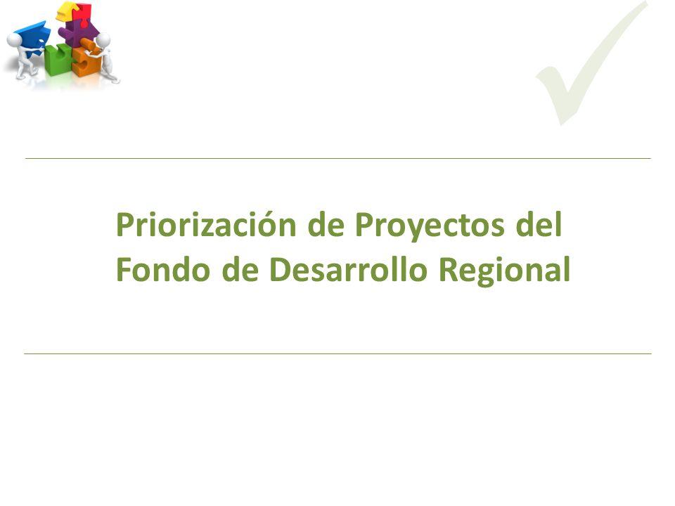 Priorización de Proyectos del Fondo de Desarrollo Regional CODICITI