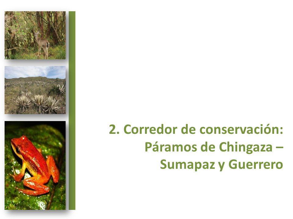 2. Corredor de conservación: Páramos de Chingaza – Sumapaz y Guerrero