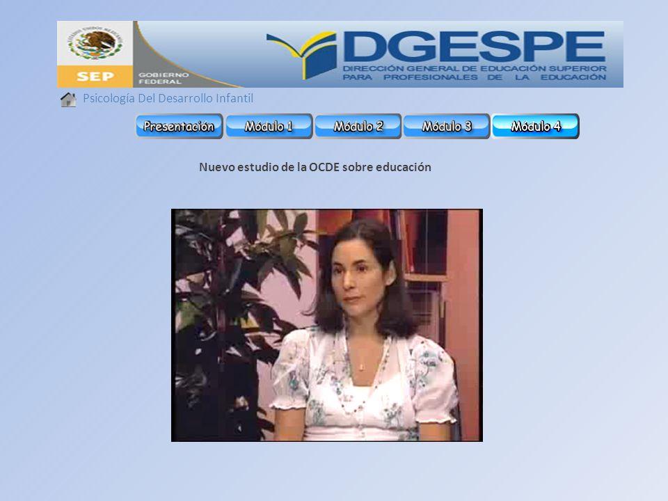 Psicología Del Desarrollo Infantil Nuevo estudio de la OCDE sobre educación