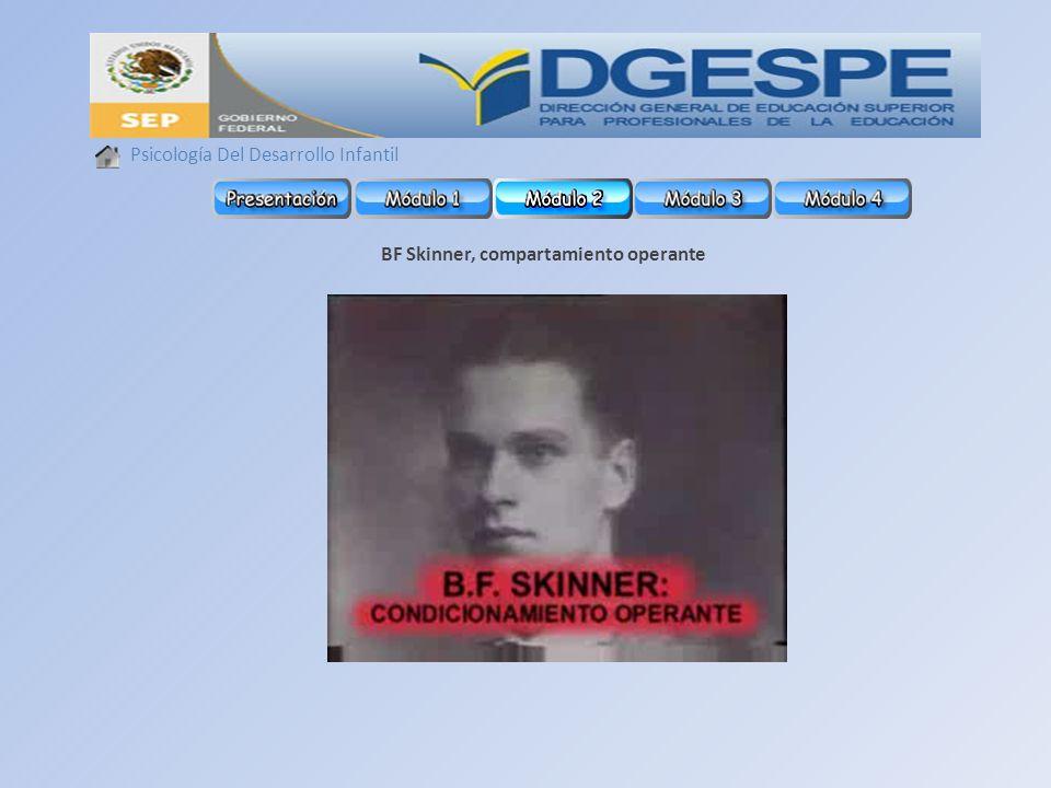 Psicología Del Desarrollo Infantil BF Skinner, compartamiento operante