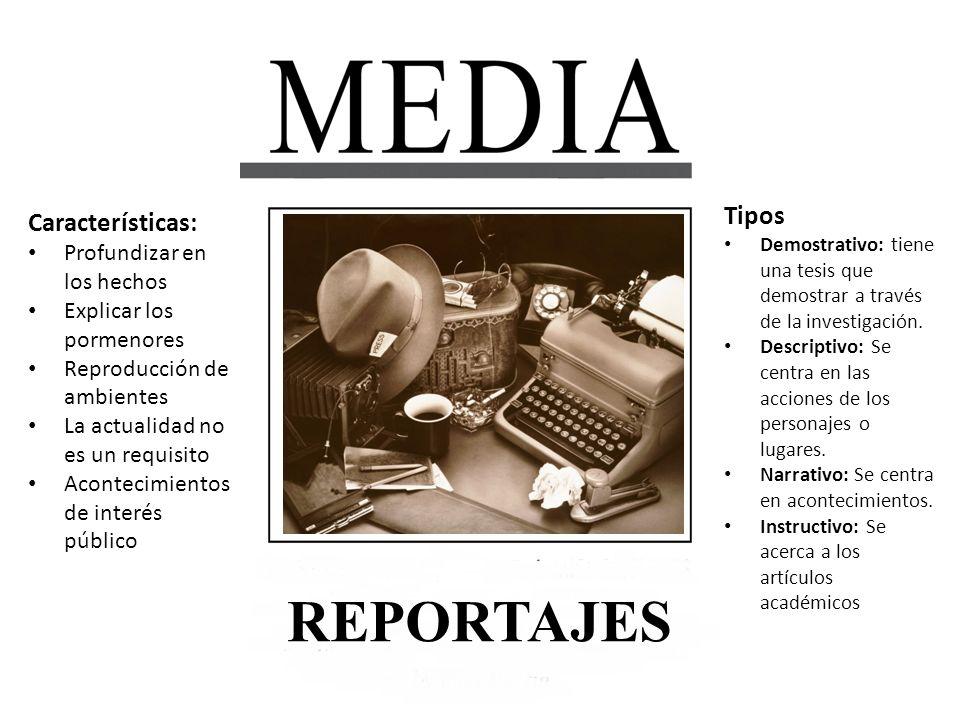 1.La preparación es mucho más profunda que la de la noticia o la entrevista.