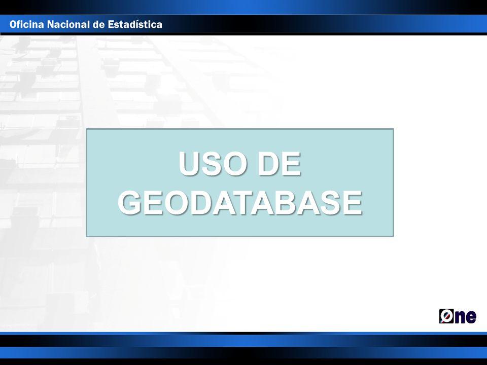 USO DE GEODATABASE
