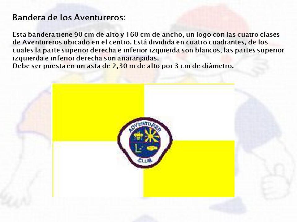 Bandera de los Aventureros: Esta bandera tiene 90 cm de alto y 160 cm de ancho, un logo con las cuatro clases de Aventureros ubicado en el centro. Est